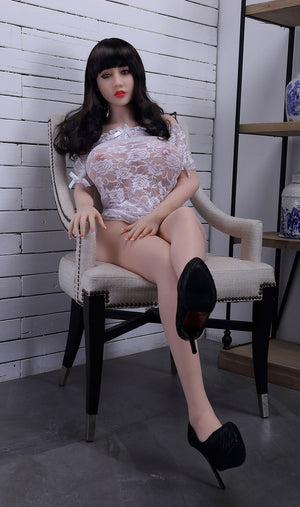 chloe 150cm brown hair curvy big boobs tpe wm asian small sex doll(3)