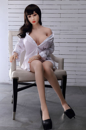 chloe 150cm brown hair curvy big boobs tpe wm asian small sex doll(4)