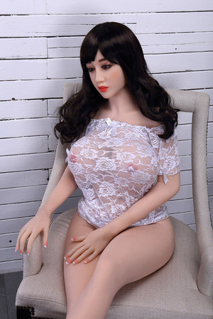 chloe 150cm brown hair curvy big boobs tpe wm asian small sex doll(7)