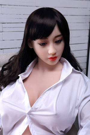 chloe 150cm brown hair curvy big boobs tpe wm asian small sex doll(9)