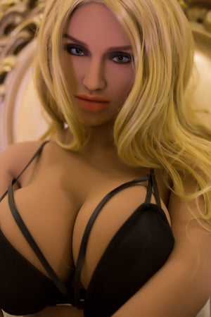 sienna 150cm blonde curvy big boobs tan skin tpe wm small sex doll(3)