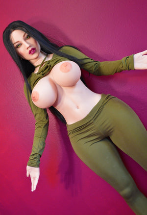 constance 152cm black hair curvy big boobs tpe wm sex doll(10)