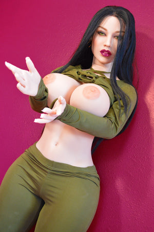 constance 152cm black hair curvy big boobs tpe wm sex doll(9)