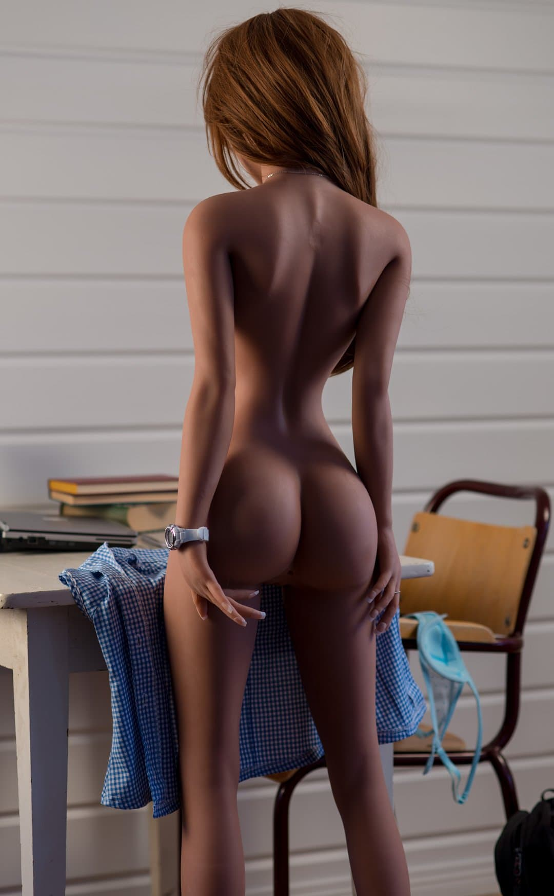 caroline 155cm brown hair skinny flat chested tan skin tpe wm asian sex doll(10)