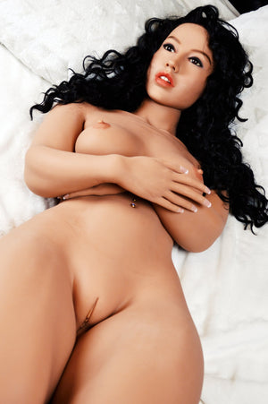 sonia 156cm black hair curvy skinny flat chested tan skin tpe wm sex doll(4)
