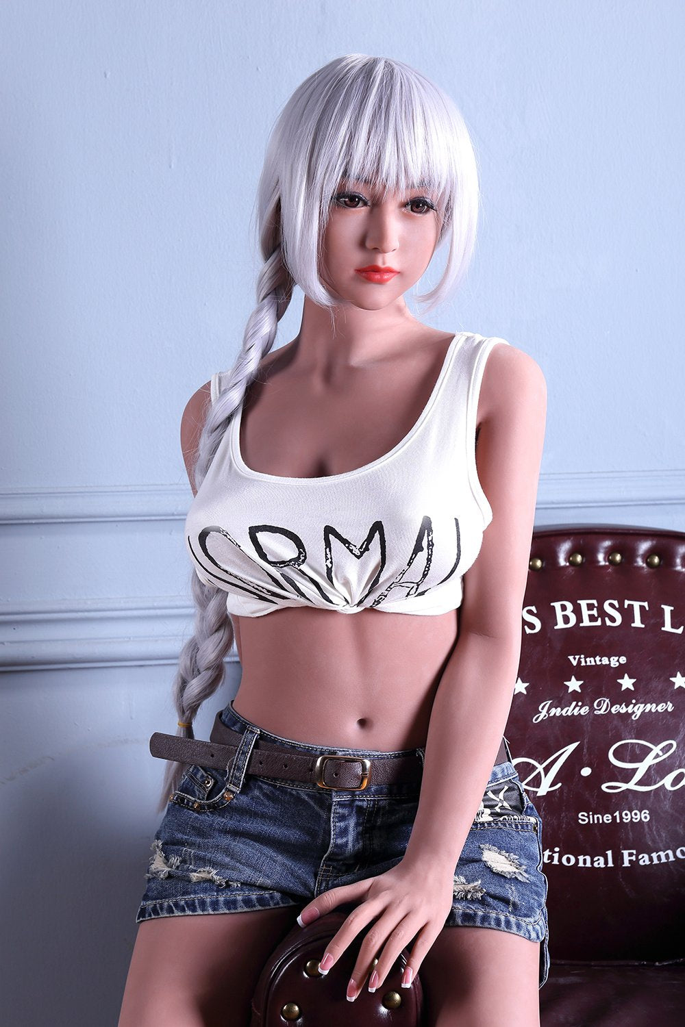 ronnie 158cm blonde japanese medium tits skinny tan skin tpe wm asian sex doll