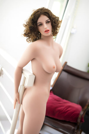 sparkle 162cm brown hair skinny flat chested tpe wm sex doll(5)