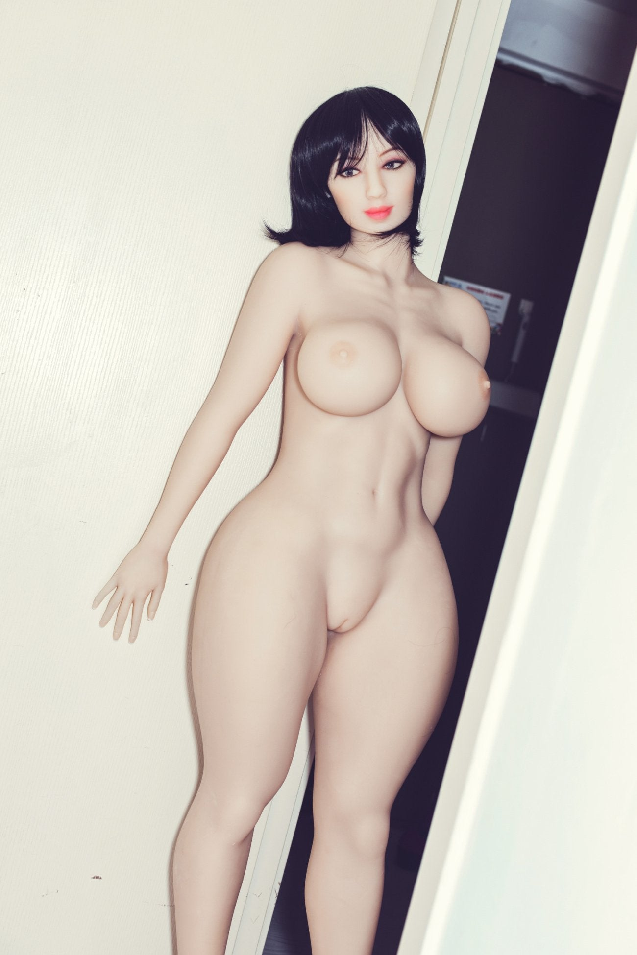 shar 163cm black hair curvy big boobs tpe wm bbw sex doll(10)