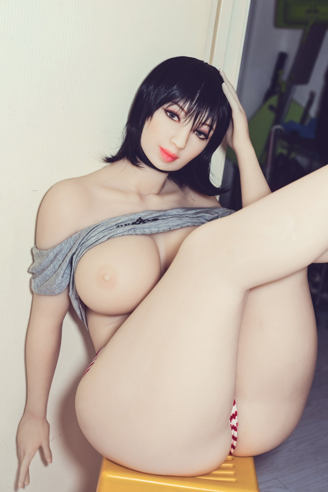 shar 163cm black hair curvy big boobs tpe wm bbw sex doll(5)