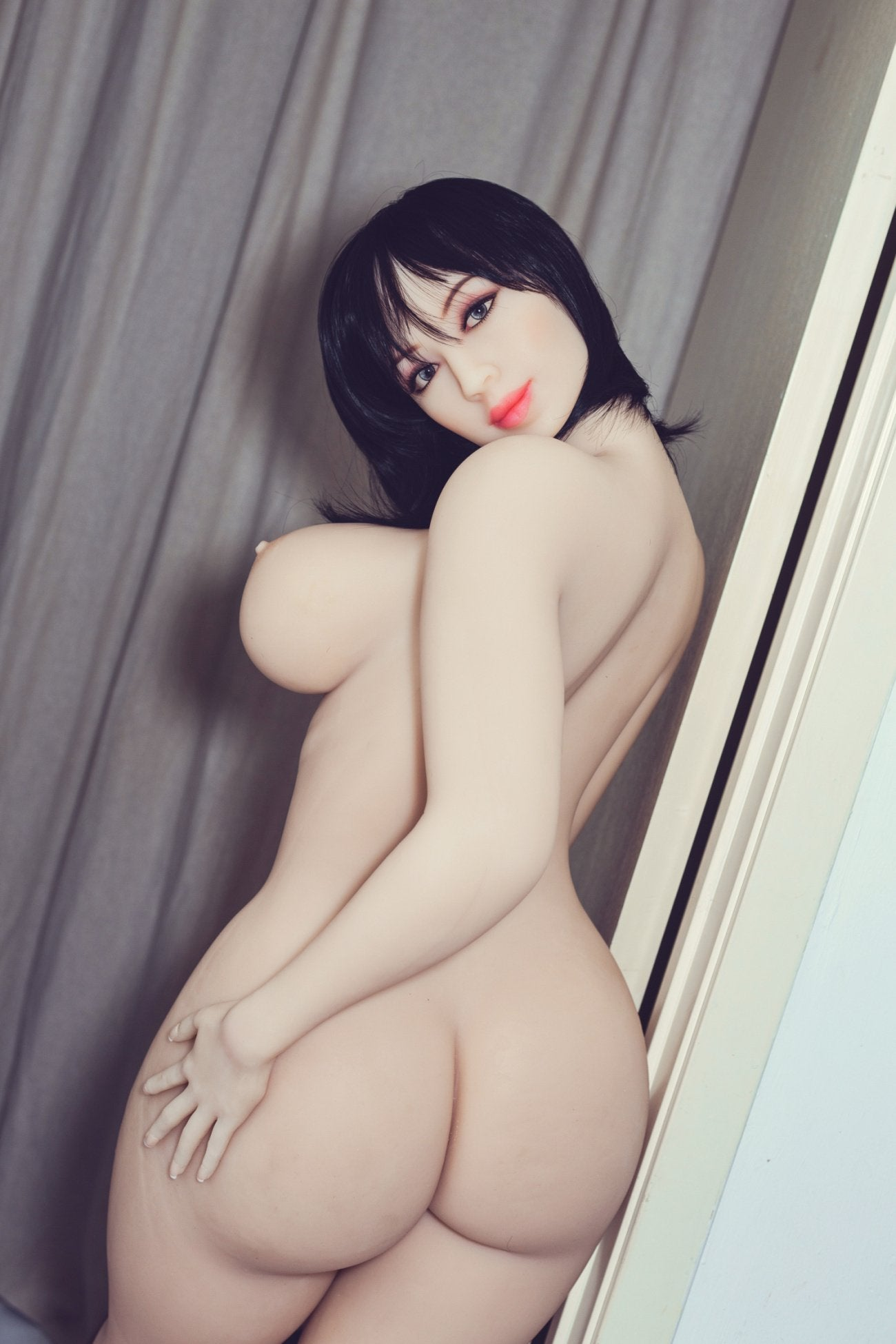 shar 163cm black hair curvy big boobs tpe wm bbw sex doll(7)
