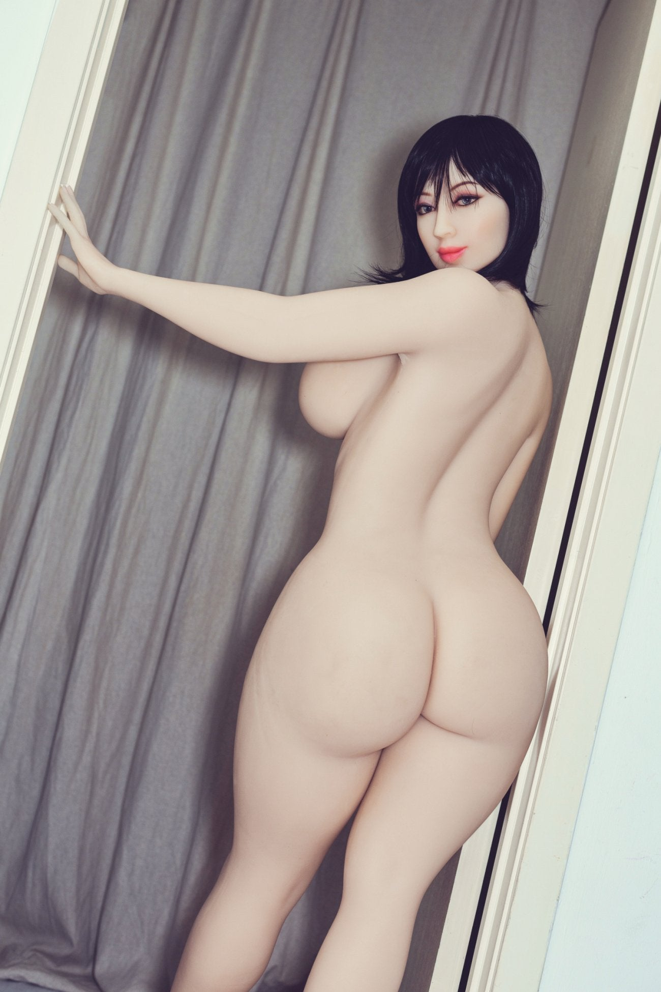 shar 163cm black hair curvy big boobs tpe wm bbw sex doll(8)