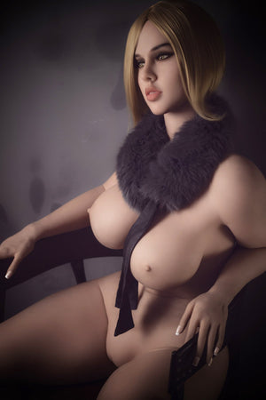 jessica 163cm brown hair curvy big boobs tpe wm bbw sex doll(3)