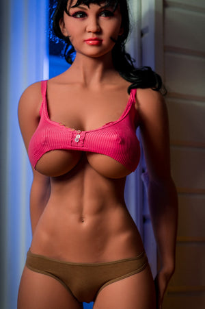 angela 170cm black hair big boobs athletic tan skin tpe wm sex doll
