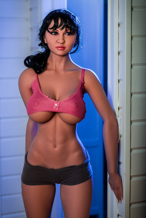 angela 170cm black hair big boobs athletic tan skin tpe wm sex doll(2)