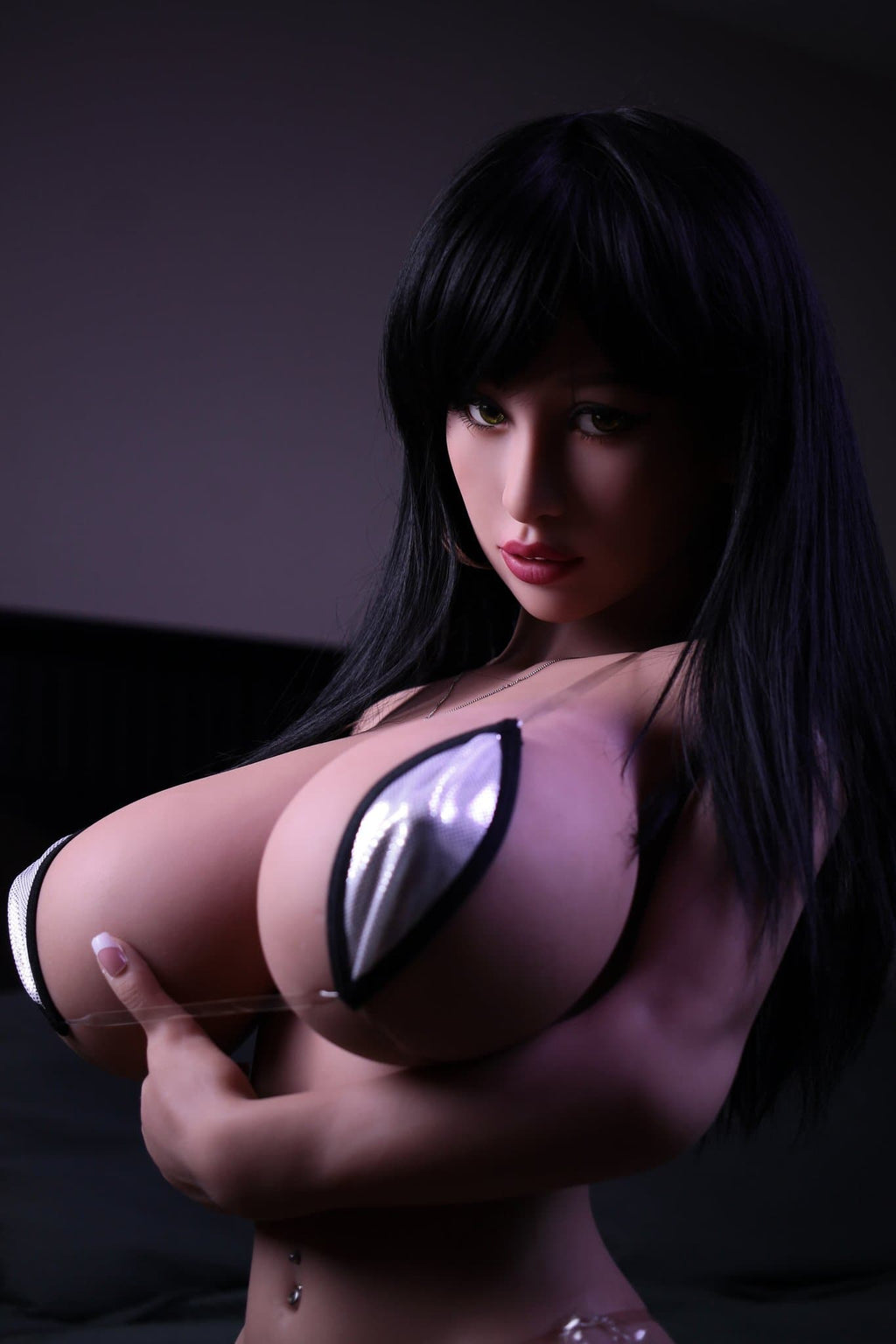 halston 140cm black hair big boobs athletic tpe yl bbw small sex doll