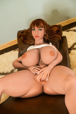 elena 146cm 4ft7 brown hair curvy giant massive tits tan skin tpe yl bbw small sex doll(4)