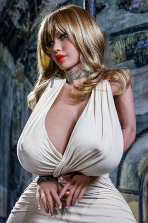 octavia 146cm 4ft7 blonde curvy giant massive tits tpe yl bbw small sex doll(4)