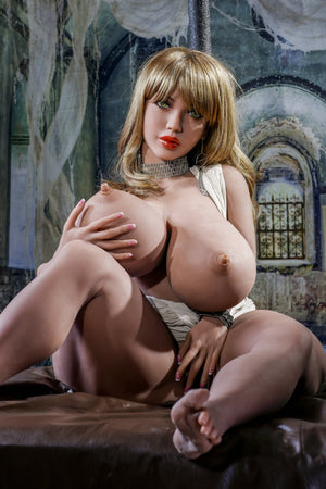 octavia 146cm 4ft7 blonde curvy giant massive tits tpe yl bbw small sex doll(9)