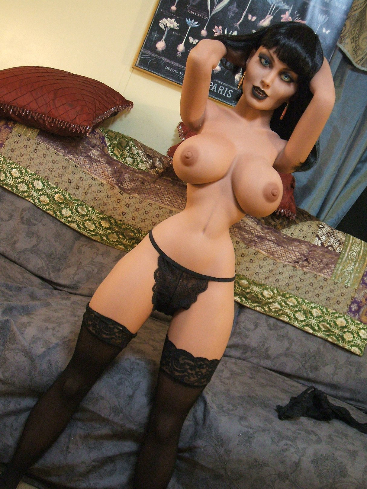 joanna 148cm black hair fantasy medium tits tpe yl anime small sex doll(2)