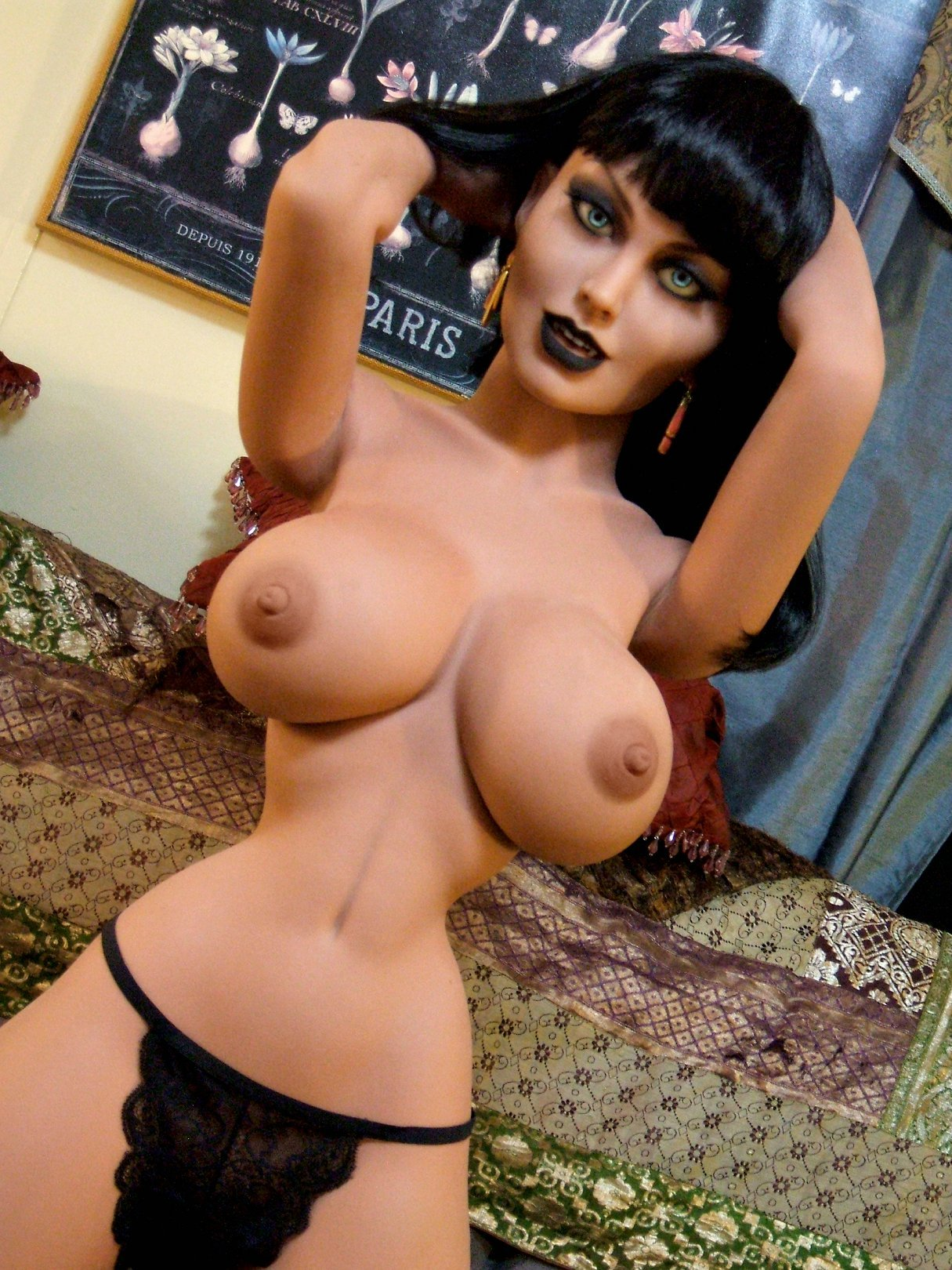joanna 148cm black hair fantasy medium tits tpe yl anime small sex doll(3)