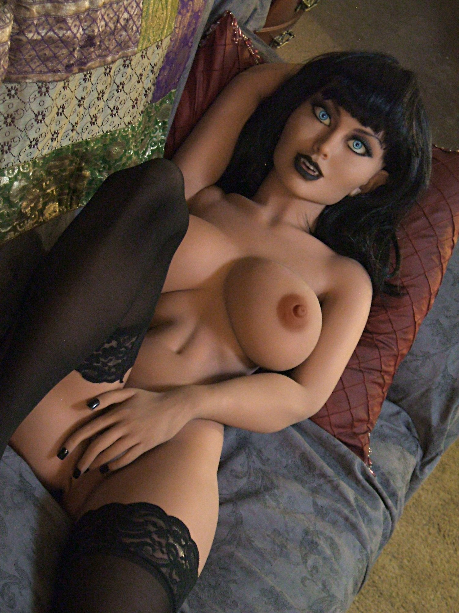 joanna 148cm black hair fantasy medium tits tpe yl anime small sex doll(4)