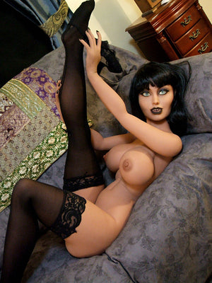 joanna 148cm black hair fantasy medium tits tpe yl anime small sex doll(8)