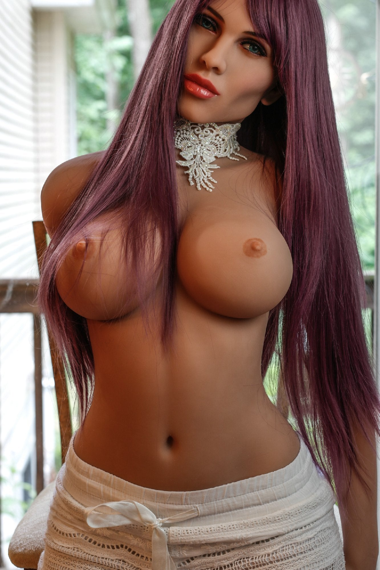 carmen 148cm medium tits athletic red hair tan skin tpe yl sex doll(3)