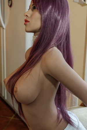 carmen 148cm medium tits athletic red hair tan skin tpe yl sex doll(4)