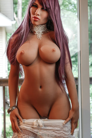 carmen 148cm medium tits athletic red hair tan skin tpe yl sex doll(8)