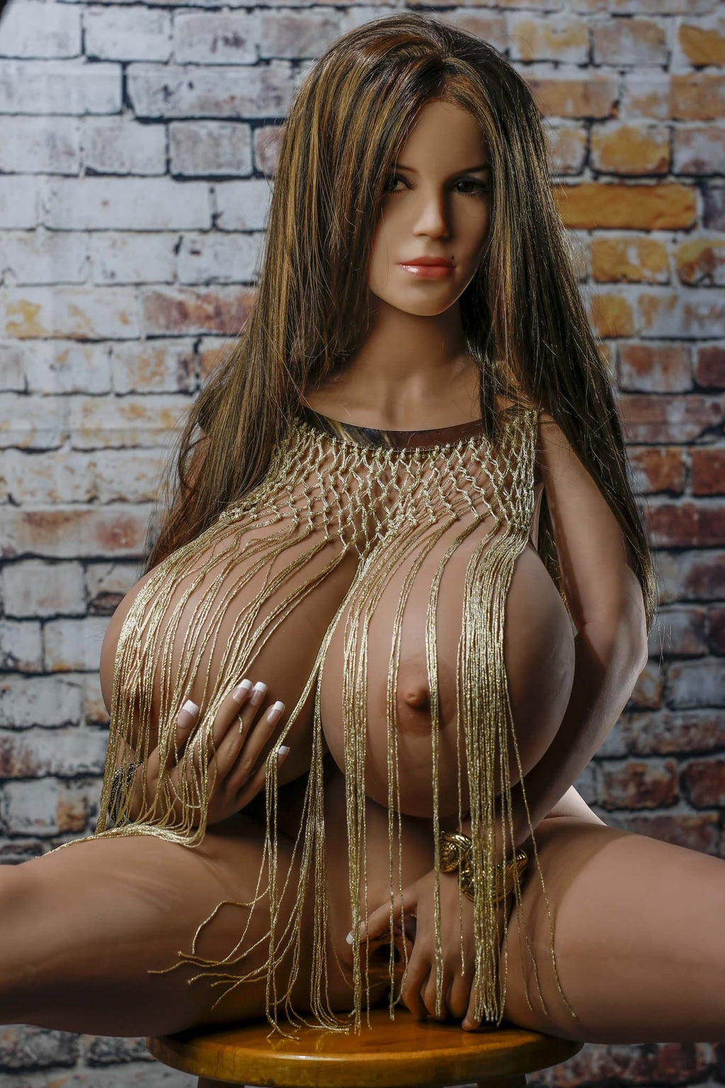 freddi 150cm brown hair curvy giant massive tits tan skin tpe yl bbw sex doll