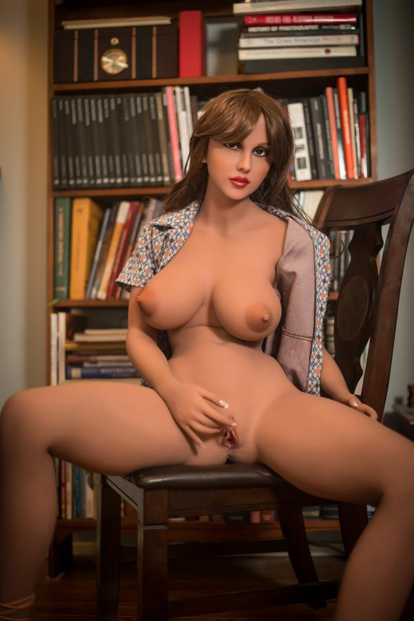 jes 157cm brown hair big boobs athletic tan skin tpe yl sex doll(10)
