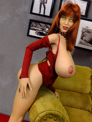 moon 160cm curvy fantasy giant massive tits red hair tpe yl anime bbw hentai sex doll(2)