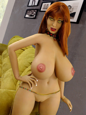 moon 160cm curvy fantasy giant massive tits red hair tpe yl anime bbw hentai sex doll(4)