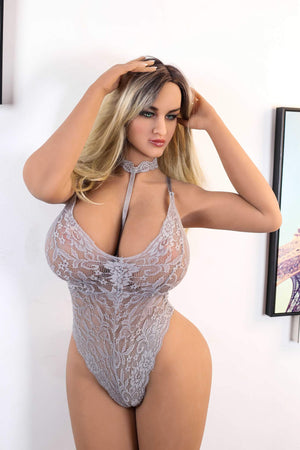 season 162cm af blonde big boobs athletic tan skin tpe bbw sex doll(2)