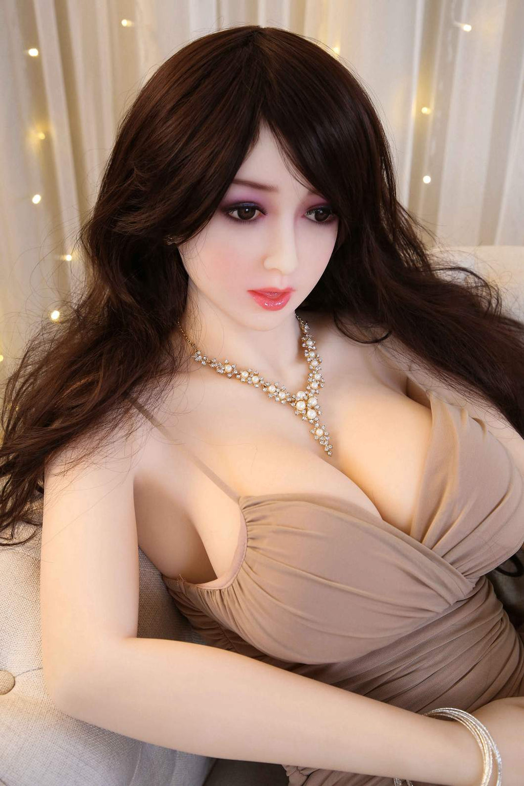 bethany 165cm af brown hair big boobs skinny tpe sex doll