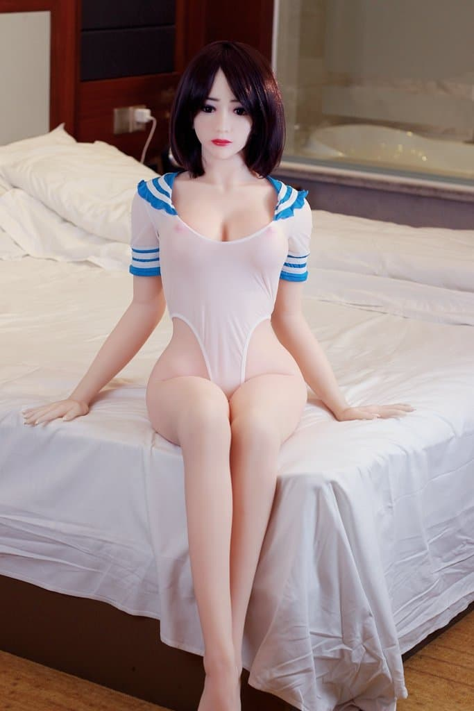 mae 158cm af black hair japanese medium tits skinny tpe asian sex doll(6)