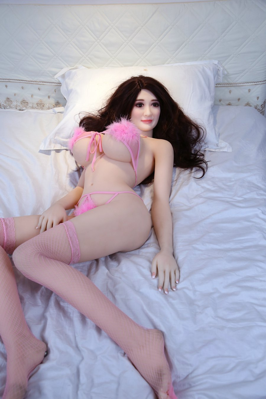 nicholle 160cm af brown hair giant massive tits athletic tpe sex doll(8)