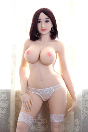 kitty 160cm af brown hair giant massive tits athletic skinny tpe sex doll(11)
