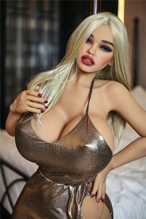 julie 140cm blonde curvy big boobs tpe bbw sex doll(2)
