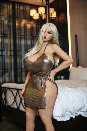 julie 140cm blonde curvy big boobs tpe bbw sex doll(5)