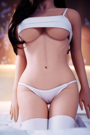 jonell 140cm black hair japanese jy medium tits skinny tpe asian small sex doll(11)