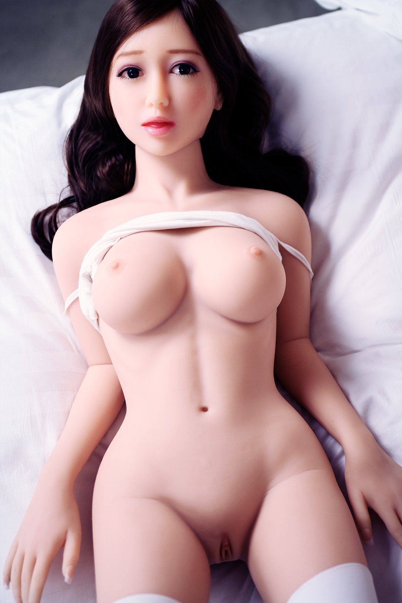 jonell 140cm black hair japanese jy medium tits skinny tpe asian small sex doll(12)