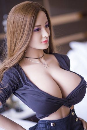 reba 153cm brown hair curvy giant massive tits jy athletic tpe sex doll(4)