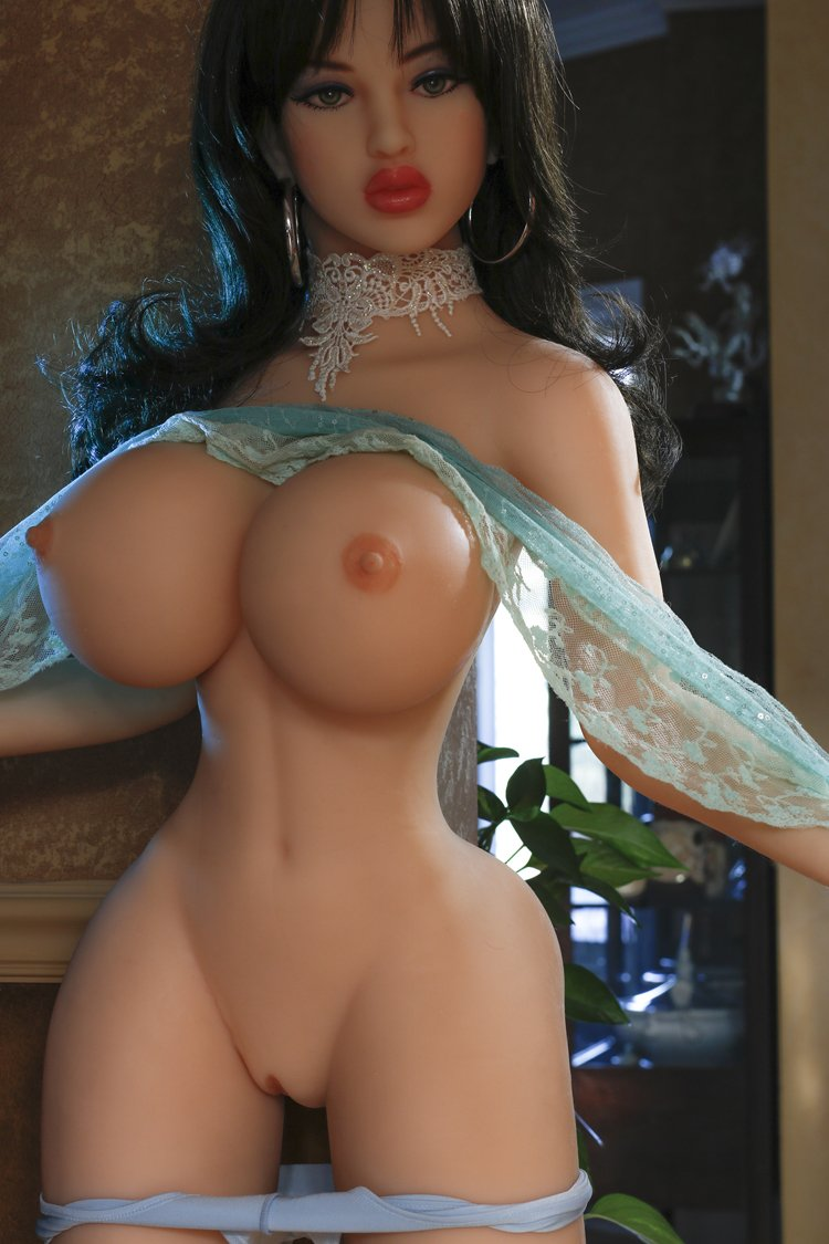 maxine 153cm black hair curvy giant massive tits jy tpe sex doll(8)