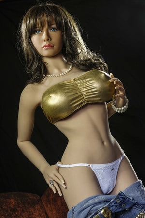rosalia 158cm brown hair jy big boobs skinny tpe sex doll(5)