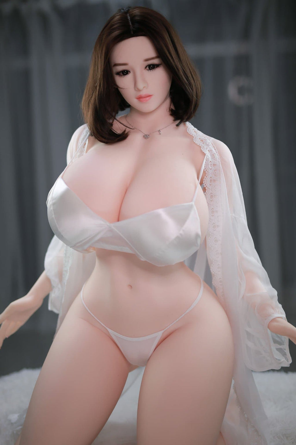 clarice 159cm 5ft3 brown hair curvy giant massive tits jy tpe sex doll