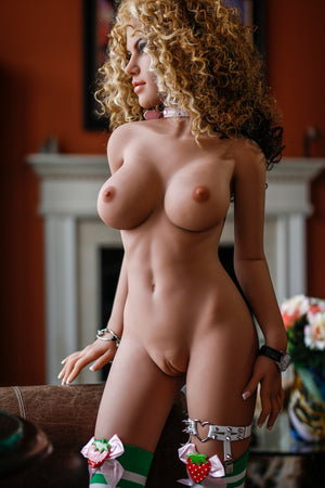 justina 150cm brown hair medium tits skinny tan skin tpe small sex doll(8)