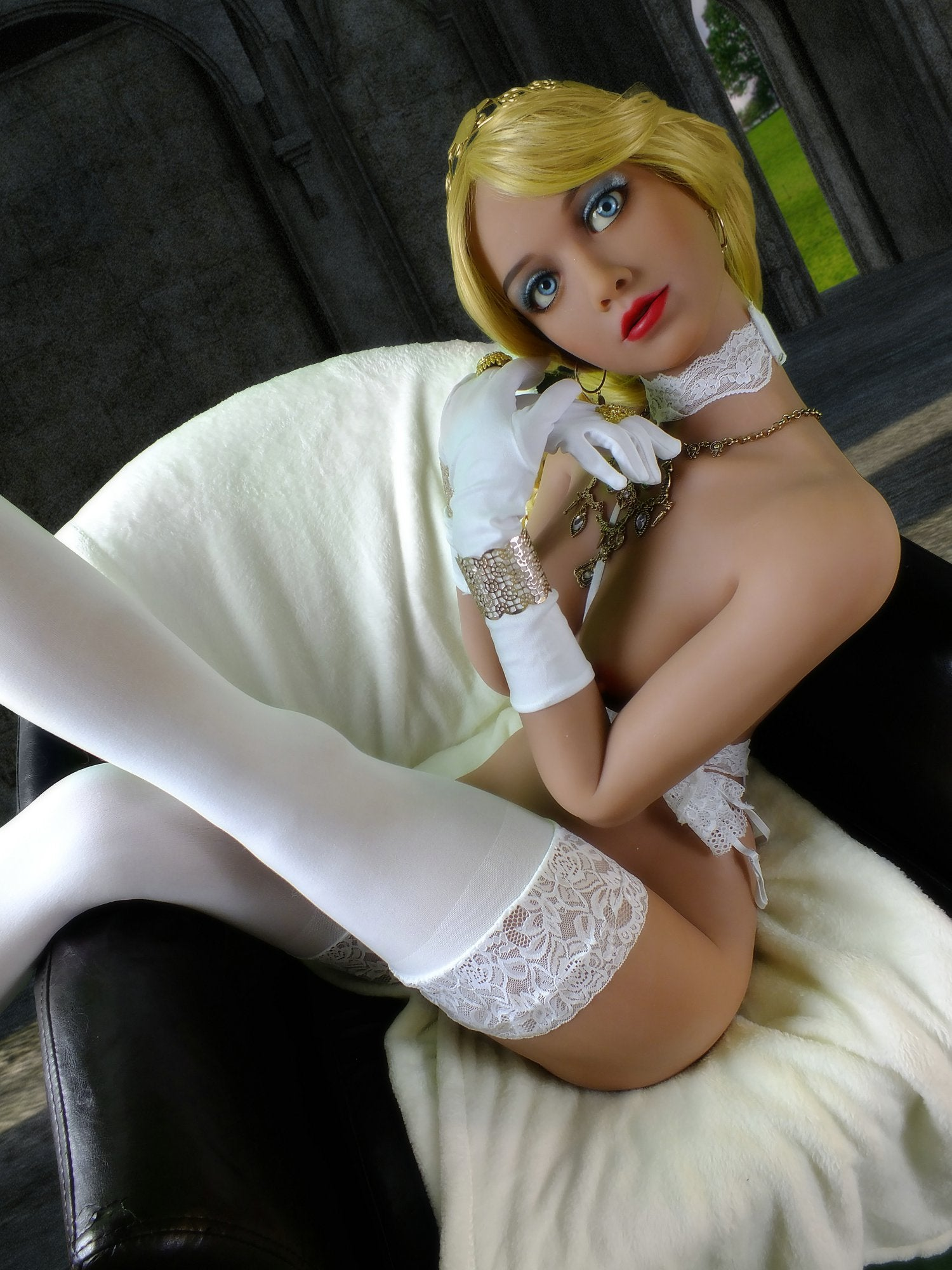 paula 168cm blonde skinny flat chested tpe yl sex doll(8)