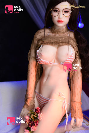 olivia 160cm black hair japanese medium tits skinny tpe sex doll(8)