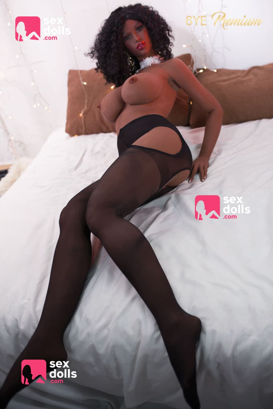 lynette 161cm dark skin tone black hair brown big boobs athletic tpe sex doll(5)